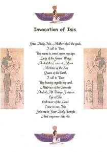 Invocation to Isis